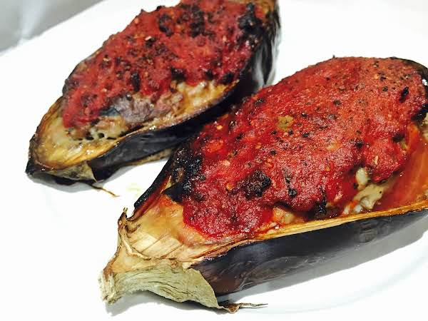 Velvety Stuffed Aubergines (eggplant) Recipe