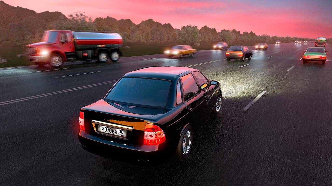 V hre nádješ široké možnosti nastavení a výbornú grafiku - Driving Zone: Russia - svetapple.sk