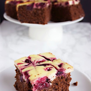 Flourless Cherry Cheesecake Chocolate Cake