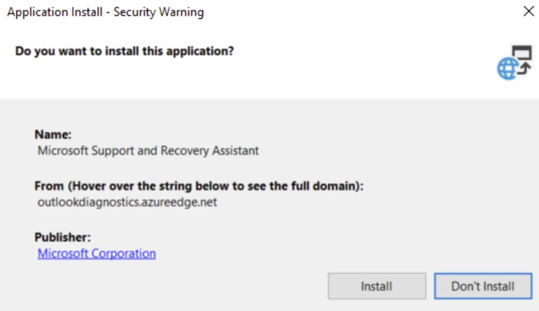 Double-click on SetupProd_OffScrub.exe, click on Install button.