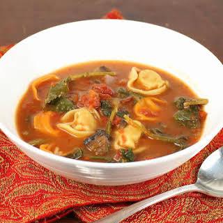 Rustic Tortellini Soup.