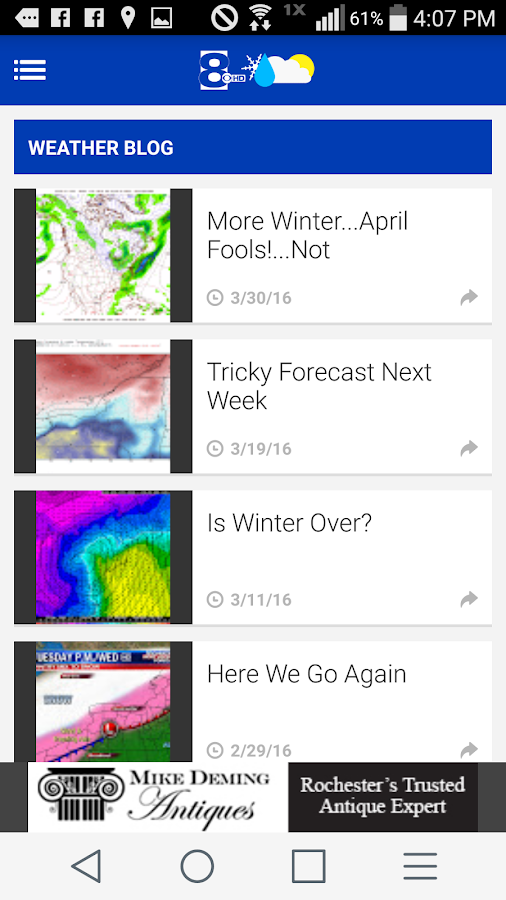 News 8 Weather- screenshot