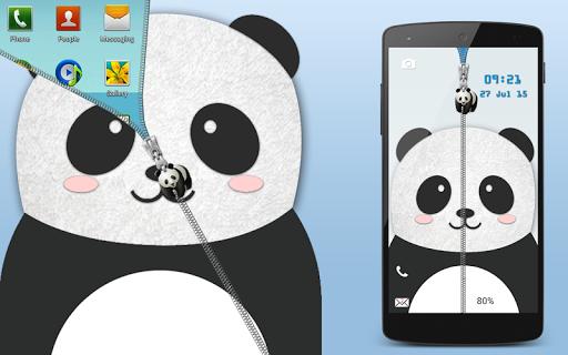 熊猫拉链锁屏