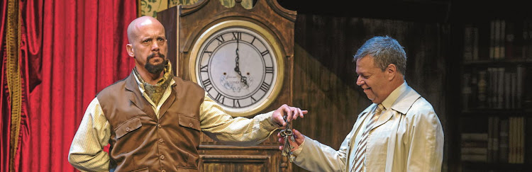 Robert Fridjhon and Russel Savadier in The Play That Goes Wrong. Picture: CHRISTIAAN KOTZE