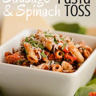 Sausage Spinach Pasta Toss