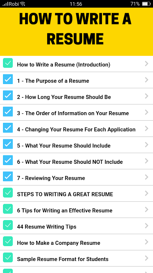 resume templates 2018 android apps on google play