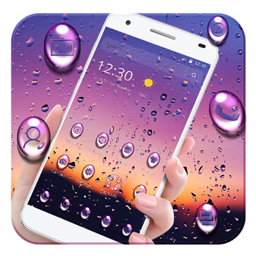Purple Water Drop Theme Android APK Download Free By Fantastic Design