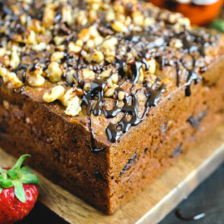 Walnut Chocolate Chunk Caramelized Banana Bread.