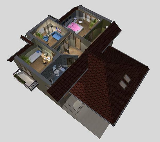 APS 080 - Rzut poddasza 3D