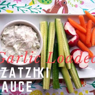 Garlic Loaded Tzatziki Sauce #FoodieExtravaganza.