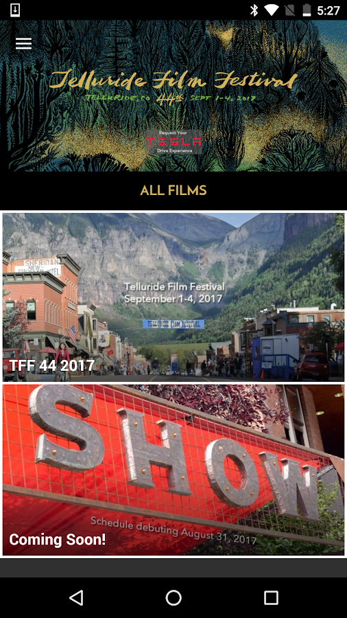 Telluride Film Festival 2017- screenshot