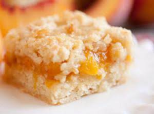 Peach Cobbler Crumb Bars Recipe