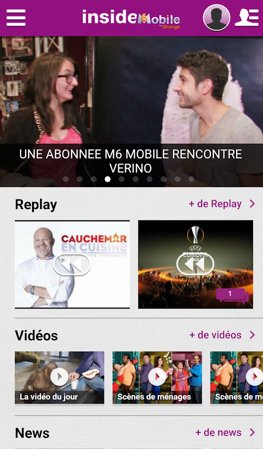M6 mobile- screenshot