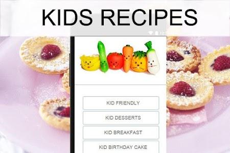 Kids recipes screenshot 0