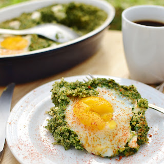 Egg Spinach Quinoa Breakfast.