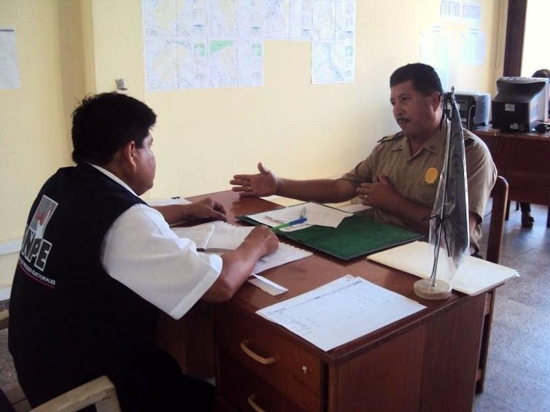 Photo: ODPE Iquitos.- Coordinaciones con la Policía Nacional del Perú.