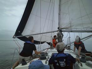 Photo: 観音開きにしたけど、艇速はついに0ノット!