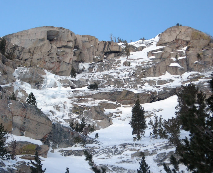 Photo: December 31, 2010 - Ice above the ice climbing area.