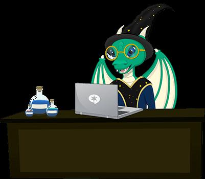 Blogging Wizard Mascot