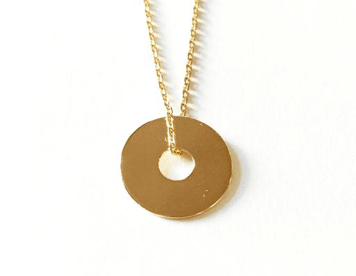 Collier jeton en plaqué or