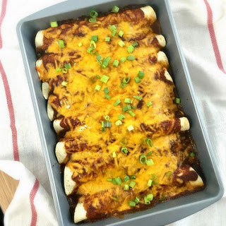 Beef Enchiladas with Homemade Red Sauce