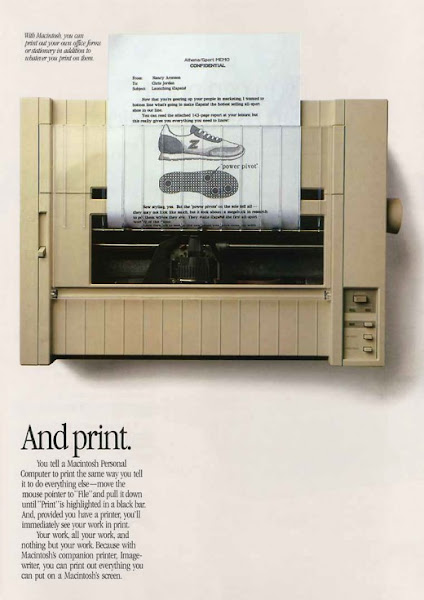 Photo: Macintosh ad Newsweek 1984