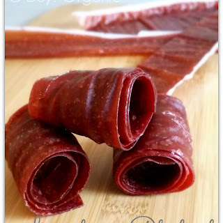 3 Ingredient Strawberry Rhubarb Fruit Leather.