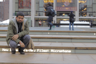 Photo: Ahmad Abdalla, In NYC before screening Microphone in New Directors/New Films festival.