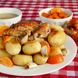 Mandarin Orange and Five Spice Roast Chicken.