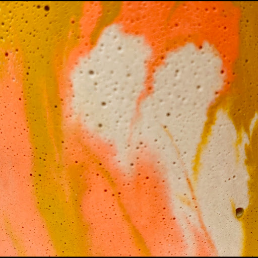 béton coloré marbré