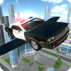 Flying Police Car Driving icon
