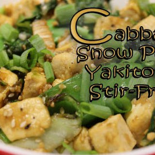 Snow Pea and Cabbage Yakitori Stir-Fry