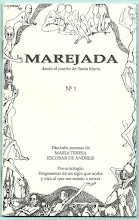 Photo: MAREJADA No. 1, Marzo 1998.  Dieciseis poemas de María Teresa Escobar De Andreis. Ediciones Exilio, Impresas y Virtuales. Ver imagen anterior. Formato Google Docs: https://docs.google.com/viewer?a=v&pid=explorer&chrome=true&srcid=0B-ABjQmYGMXbOTc0NDU4YzQtMjc4YS00NzJhLTk0OGItZDNhOTNlOTE5Y2Uy&hl=en Formato ISSUU, pdf: ... Formato Scribd, pdf: ...