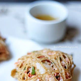 Lobster and Shitake Egg Nests with Sesame Butter (Low Carb and Gluten Free).