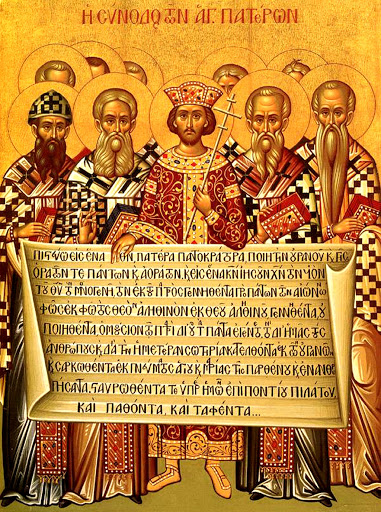 Concile de Nicée (325) représenté sur une icône