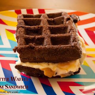 Cake Batter Waffle Ice Cream Sandwiches