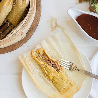 Traditional Pork Tamales.