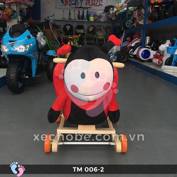 Thú bập bênh cho bé TM006-2 có bánh xe 3