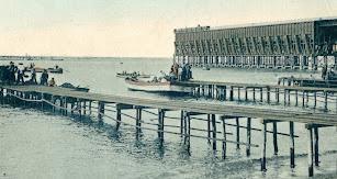 Actividades de carga de mineral e instalaciones de principios de siglo.