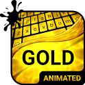 Gold Animated Keyboard + Live Wallpaper icon