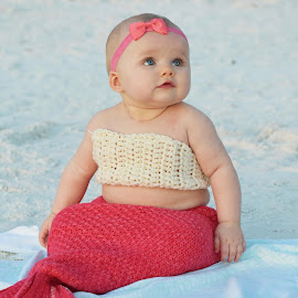 Little Mermaid by Lorna Littrell - Babies & Children Babies ( mermaid, beach, babies,  )
