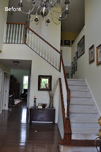 Photo: (Before) Lewis' Foyer Stairs, walls  Royersford, PA