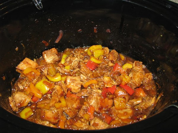 (optional)  Cut up the peppers and add to the pot.  Add 1...