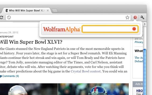 Wolfram|Alpha (Official) chrome extension