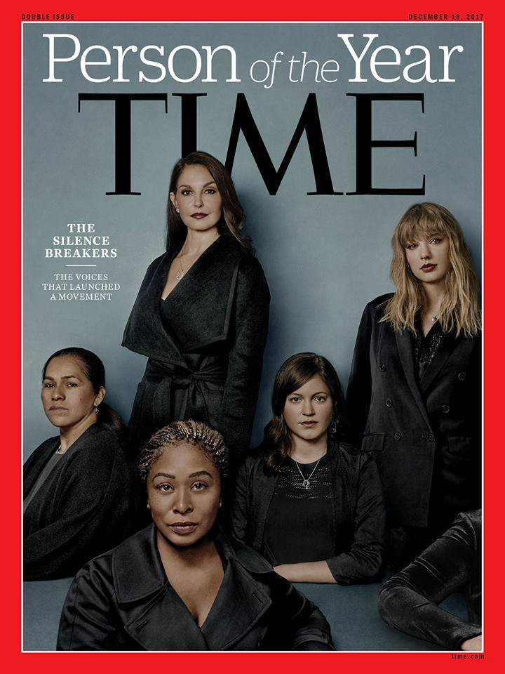 "TIME Magazine announces ""The Silence Breakers"" as the person of the year for 2017."
