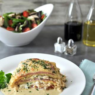 Chicken Cordon Bleu Lasagna – Low Carb, Gluten Free.