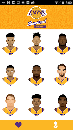 Lakers Showtime! Stickers Screenshot
