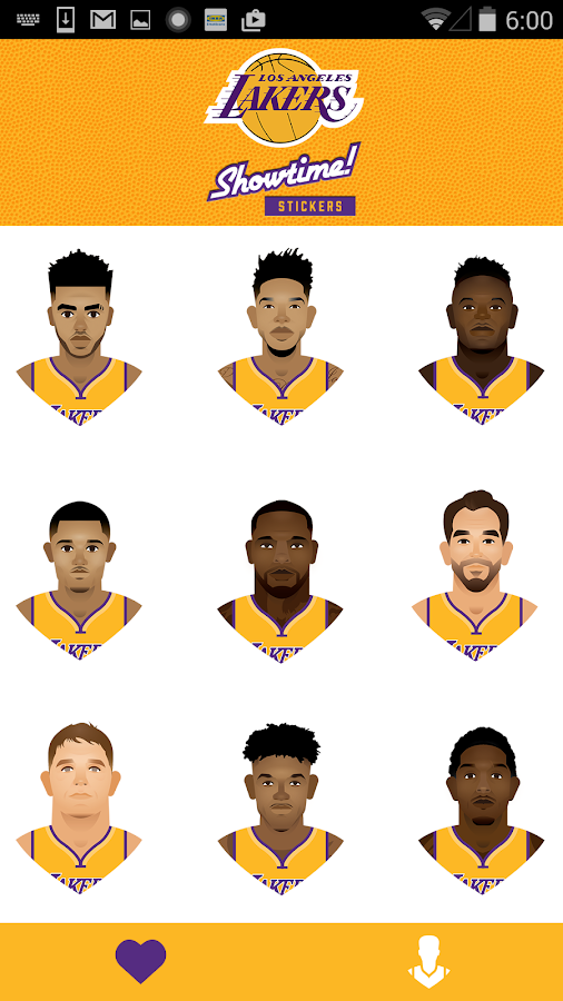 Lakers Showtime! Stickers- screenshot