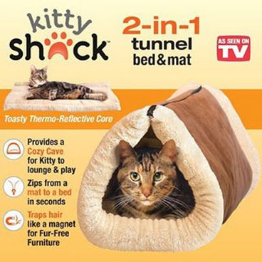 2 in 1 Tube Cat Mat and Bed  #catfurniture #catbedding #catmatandbed #2in1tube #kittyshack #asseenontv #tunnelbed #bedandmat