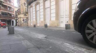 Adoquinado actual de la calle Jovellanos